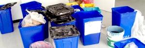 Bidones de residuos de Poliniza 2010