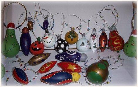 Haz tus adornos navide os reciclando el medio ambiente y la otra mitad - Adornos de navidad hechos en casa ...
