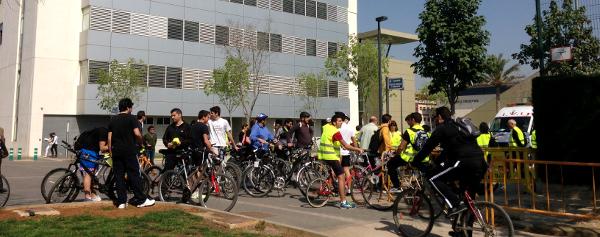 Celebración del Bon dia amb Bici en la UPV